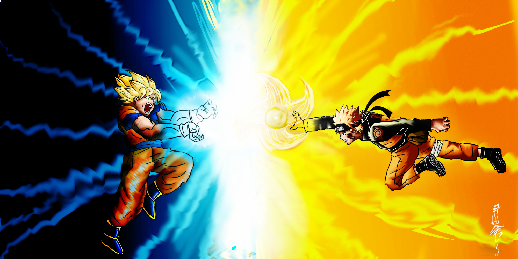 Wallpaper Naruto Vs Goku Naruto Wallpapers 2000x1000
