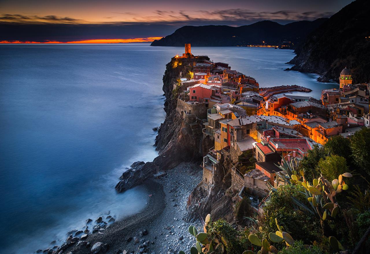 Images Vernazza Cinque Terre park Italy Province of La Spezia Coast 1280x880