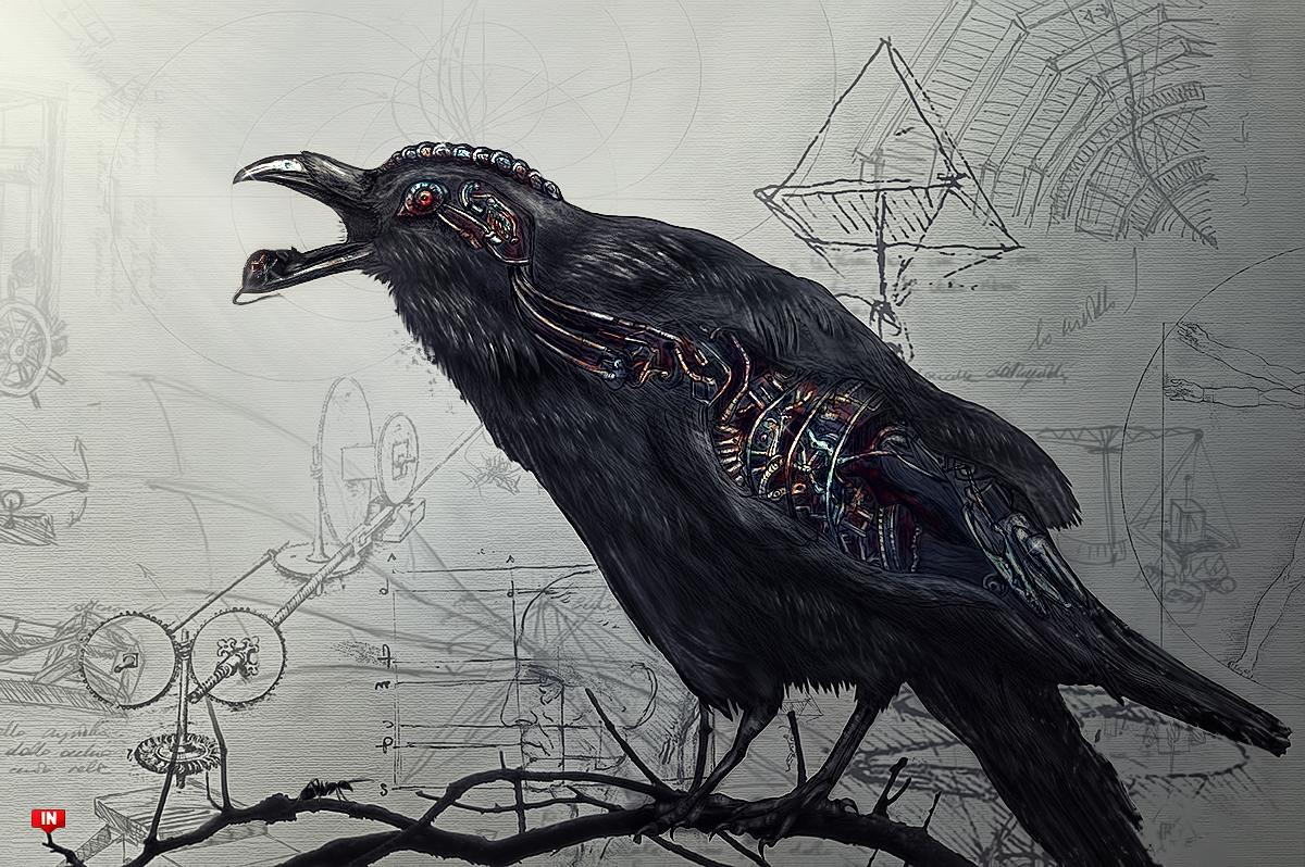 Drawing Black Raven Wallpaper IPhone Wallpaper WallpaperLepi 1200x798