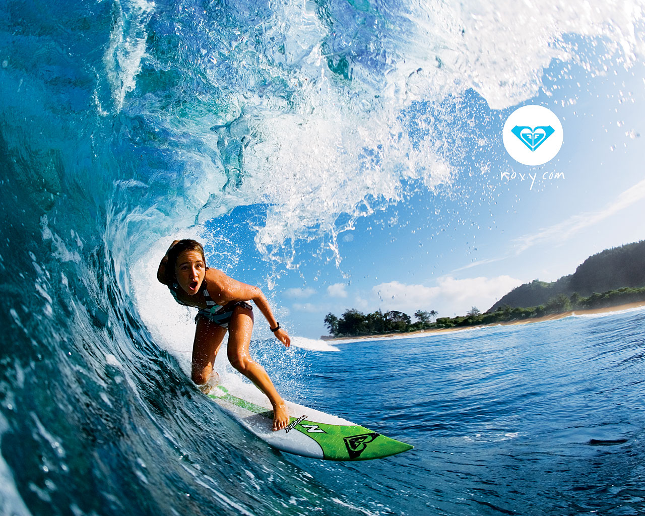 Fond dcran Roxy gratuit fonds cran Roxy surf vtement femme 1280x1024