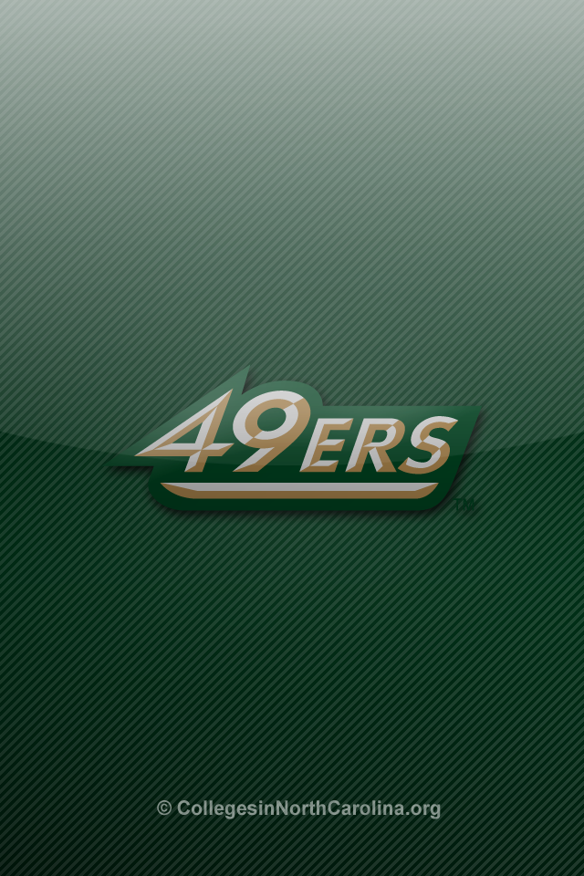 thumbs unc charlotte 49ers iphone wallpaper 3 UNC Charlotte 49ers 640x960