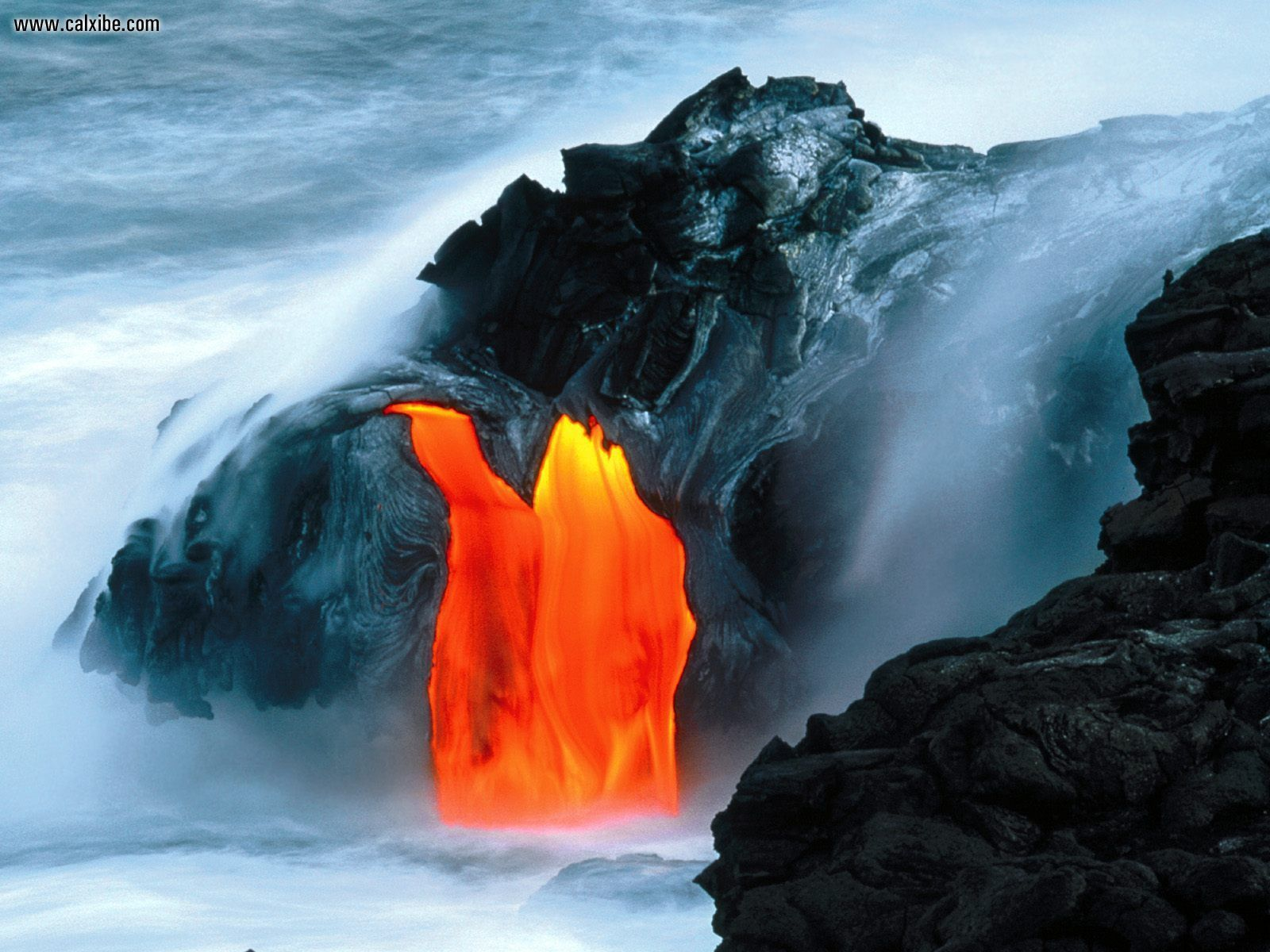 Nature Lava Flow From Kilauea Volcano Hawaii picture nr 17398 1600x1200