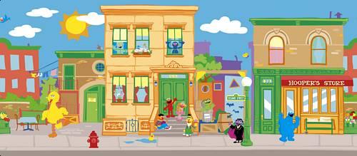 Sesame Street Wallpaper Border 1 500x219