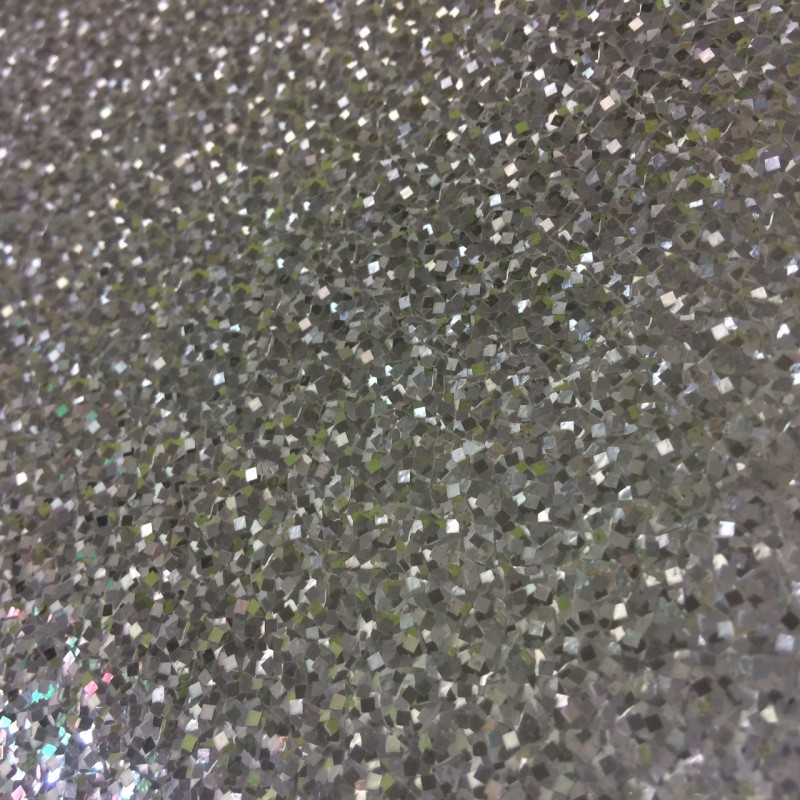 Holographix Silver Holographic Glitter Textures Wallpaper by Decorline 800x800