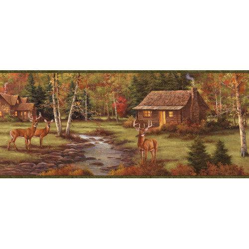 by Chesapeake Lodge Stag Creek Portrait Wildlife Border Wallpaper 500x500