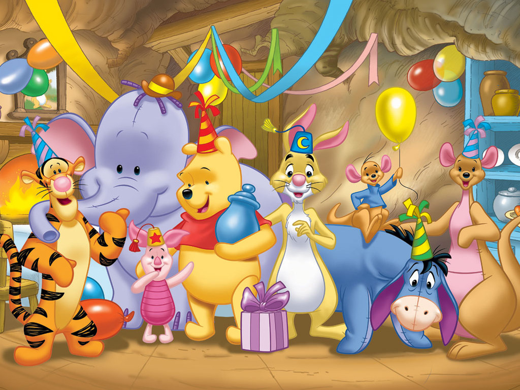 12 Winnie The Pooh 1024x768 Easter Cards Wallpaper   Educational 1024x768