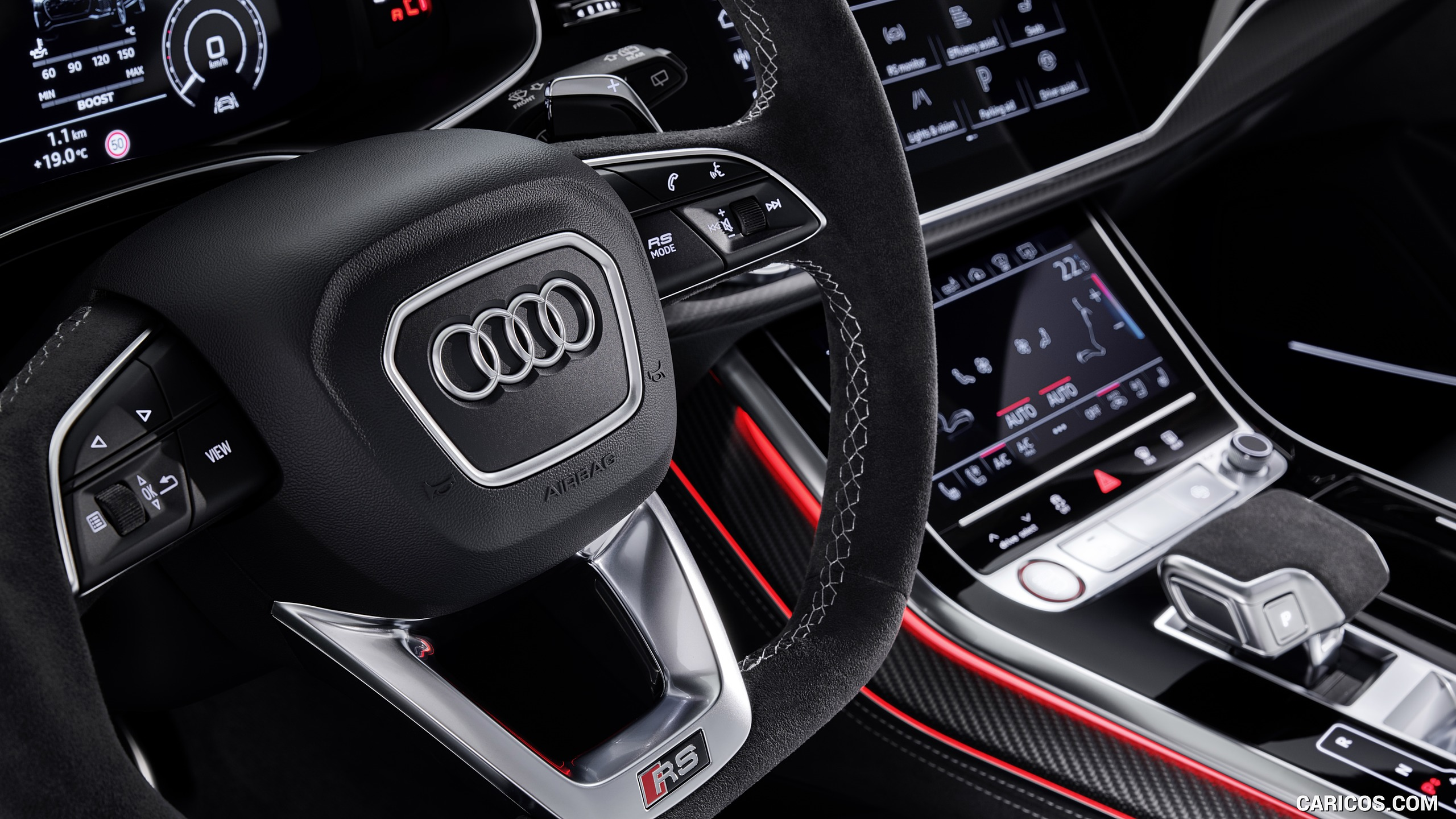 2020 Audi RS Q8   Interior Steering Wheel HD Wallpaper 14 2560x1440