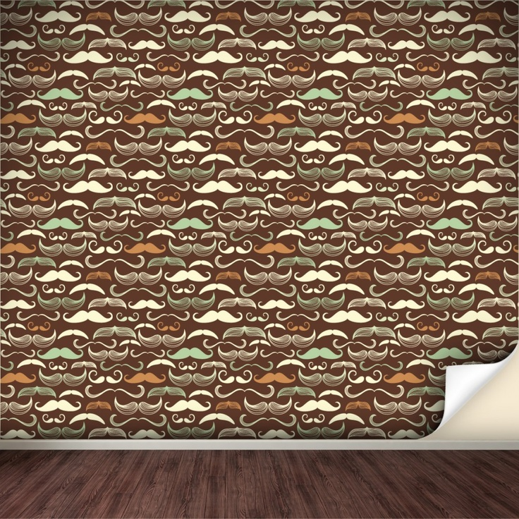 Our Moustache Removable Wallpaper Just in case you thought we weren 736x736