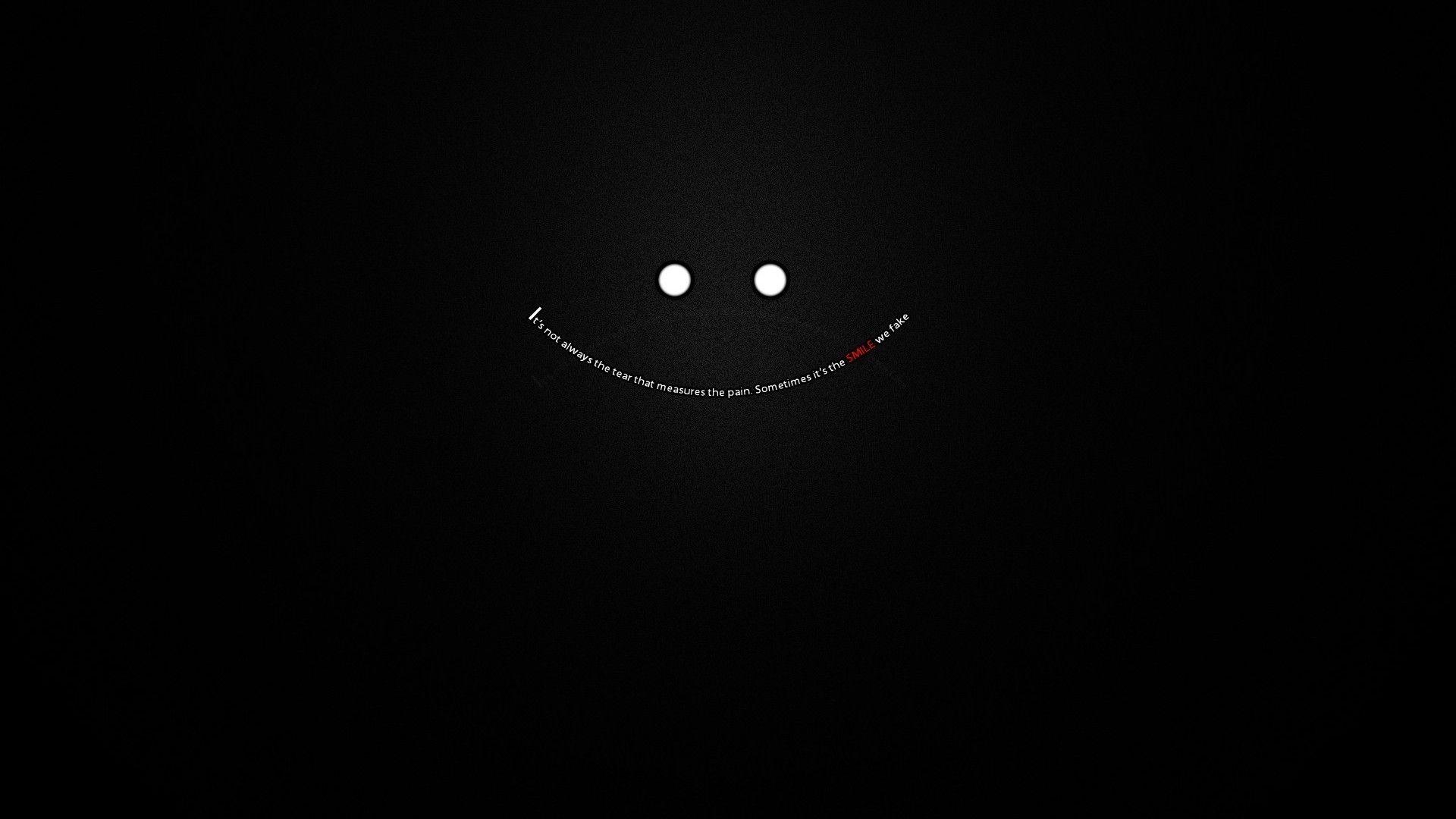 The smile could be painful Wallpaper gelap Wallpaper sedih 1920x1080