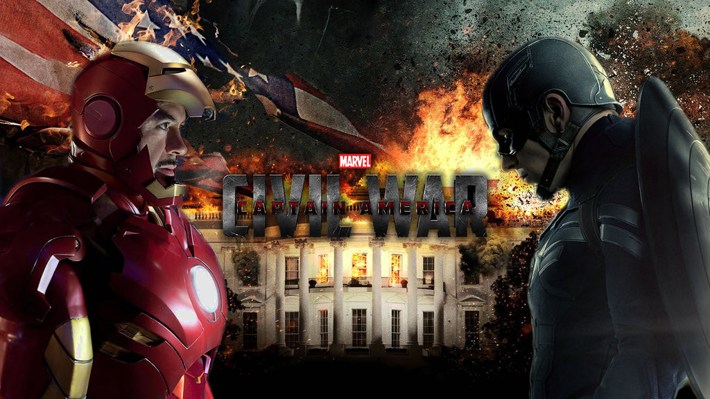Stylish HD Wallpapers Captain America Civil War 2016 Movie Poster 1024x576