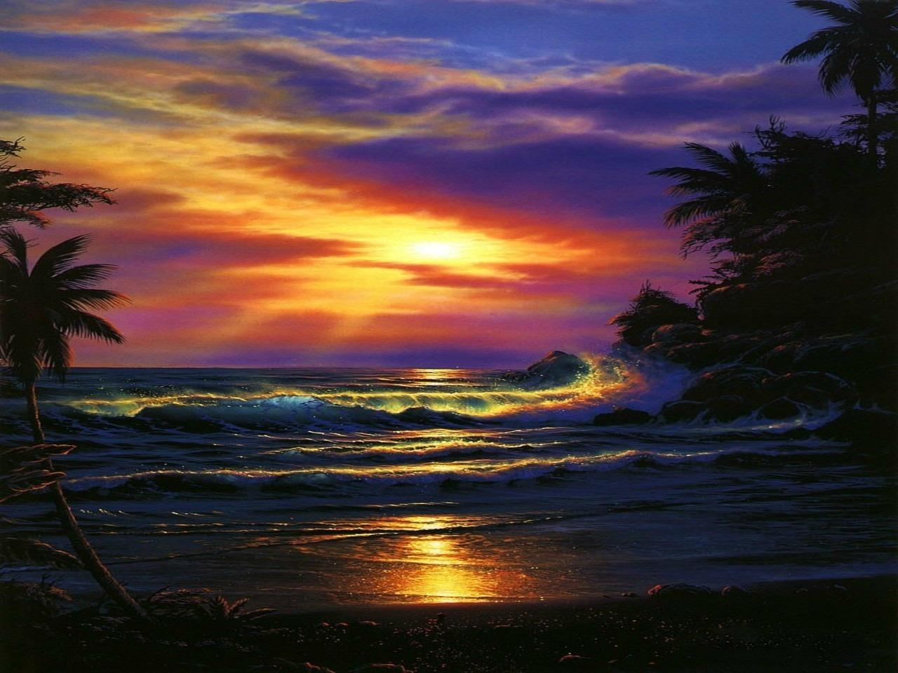 Playas de Jamaica Al Atardecer   Walpaperes 1280x960