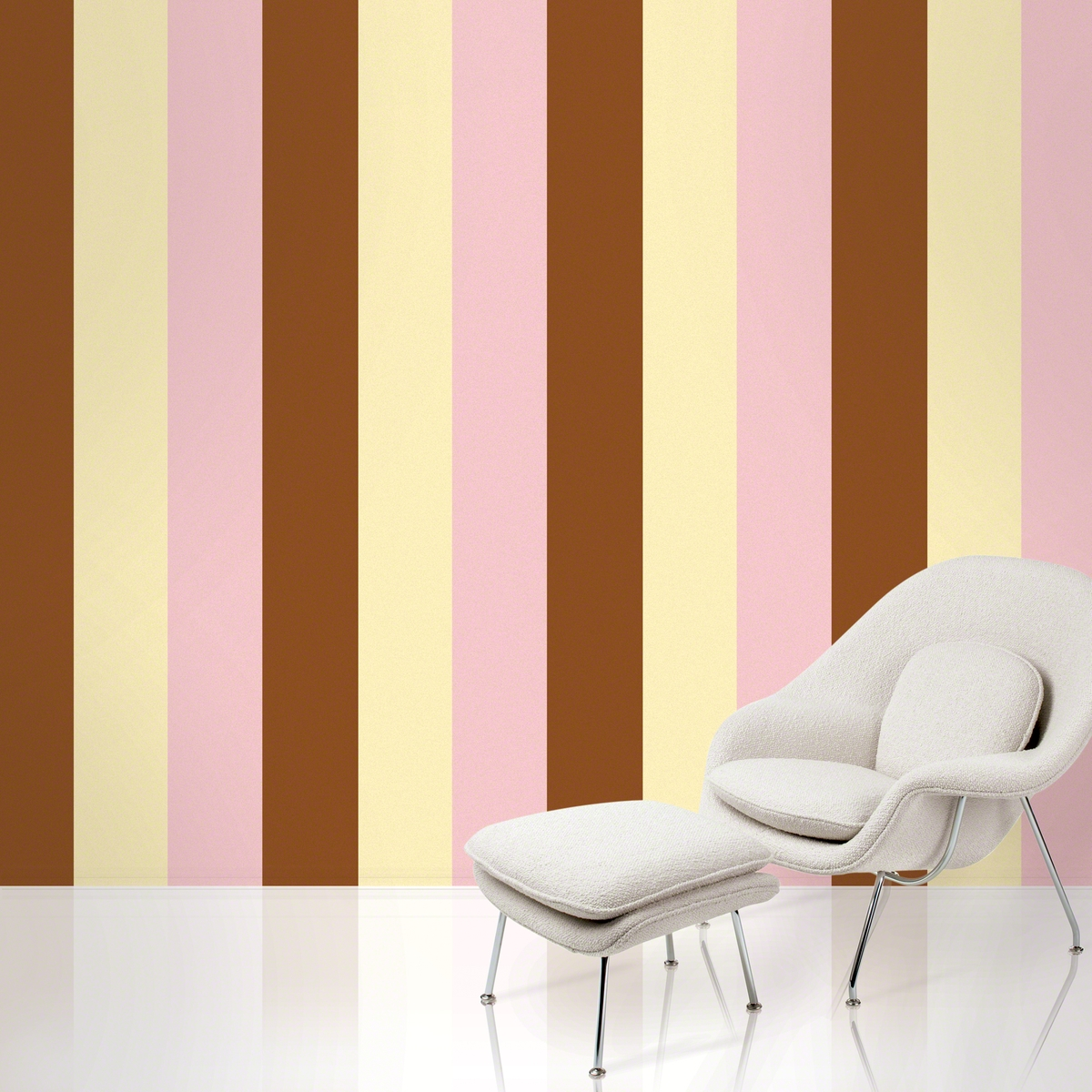 Stripes Neapolitan Removable Wallpaper   WallCandy Arts 1200x1200