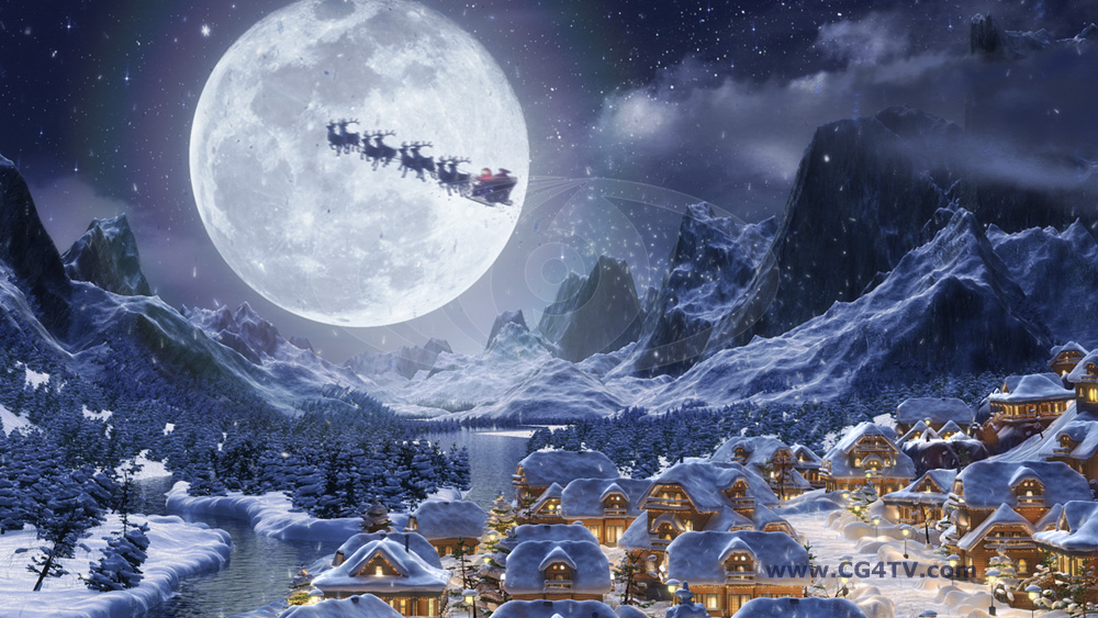 Animated Christmas Backgrounds in HD   high definition Broadcast 1000x563