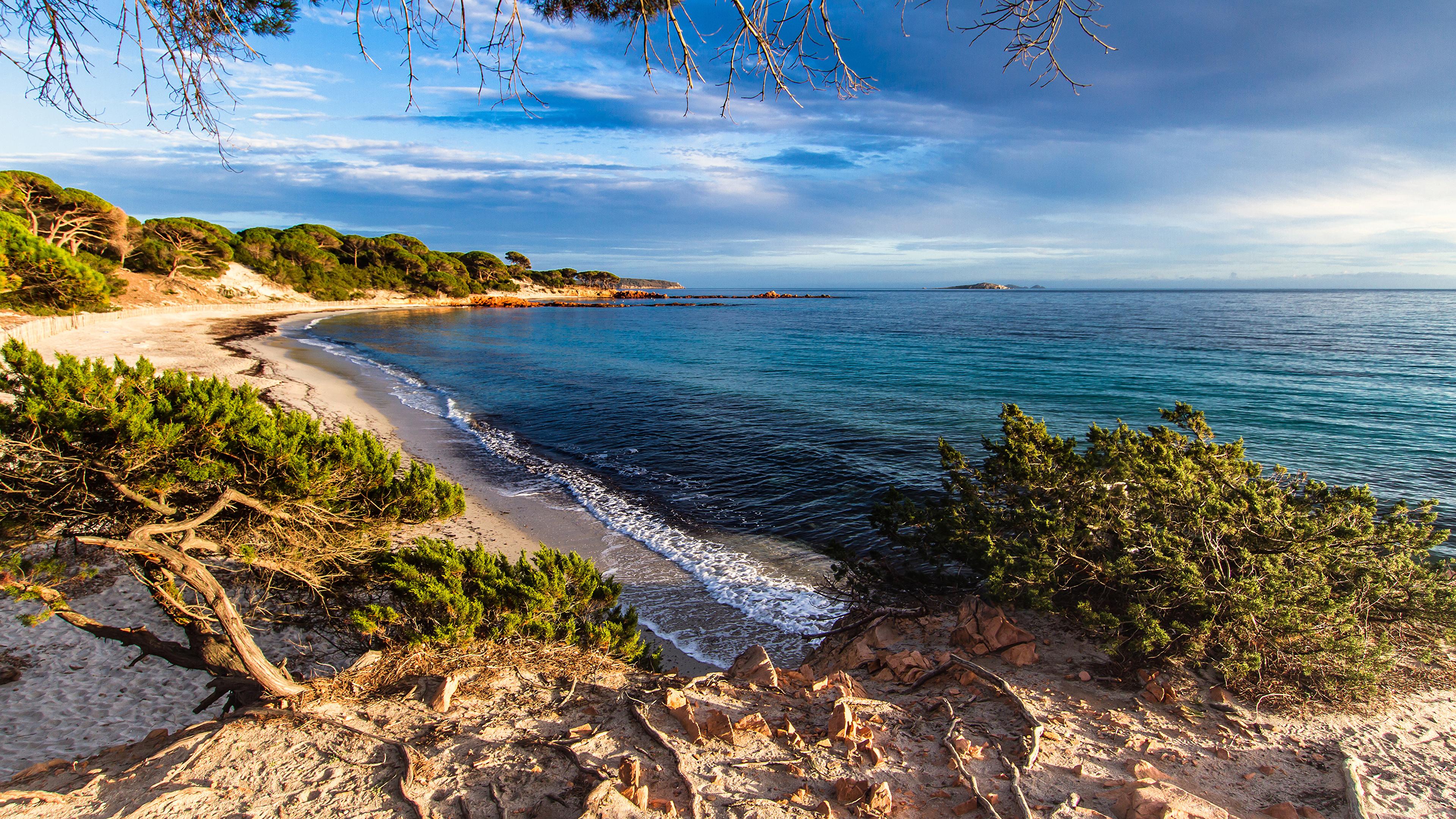 Desktop Wallpapers France Corsica Nature Waves Coast 3840x2160 3840x2160