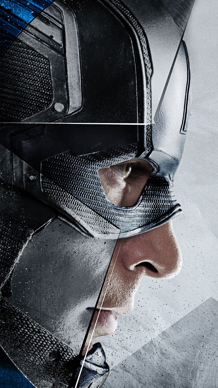 Captain America Civil War 2016 Captain Ameria  iPhone Wallpaper 750x1334