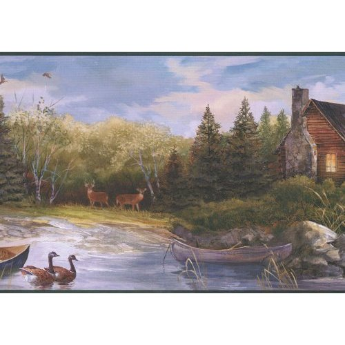 Hunting Cabin Wallpaper Border in York Border Gallery 500x500