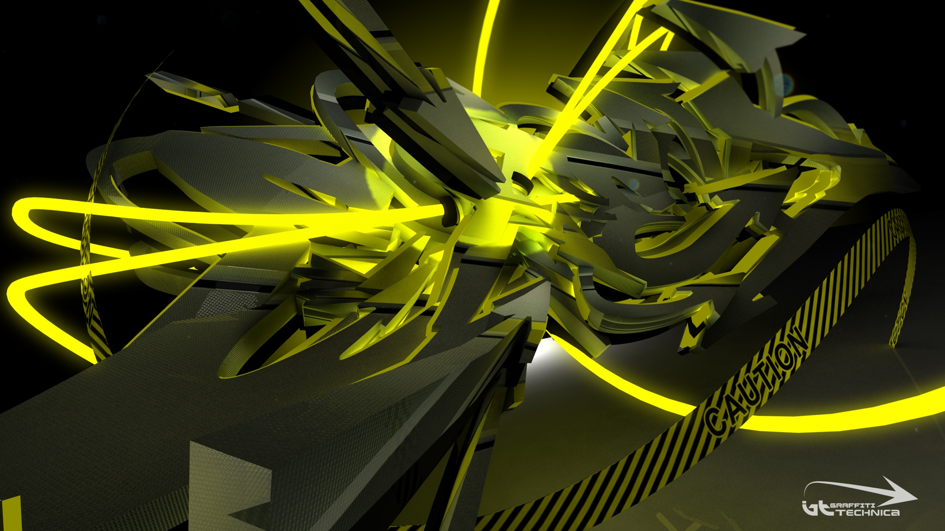 wp contentuploads2013053D Graffiti Neon Tron Desktop Wallpaperjpg 1920x1080