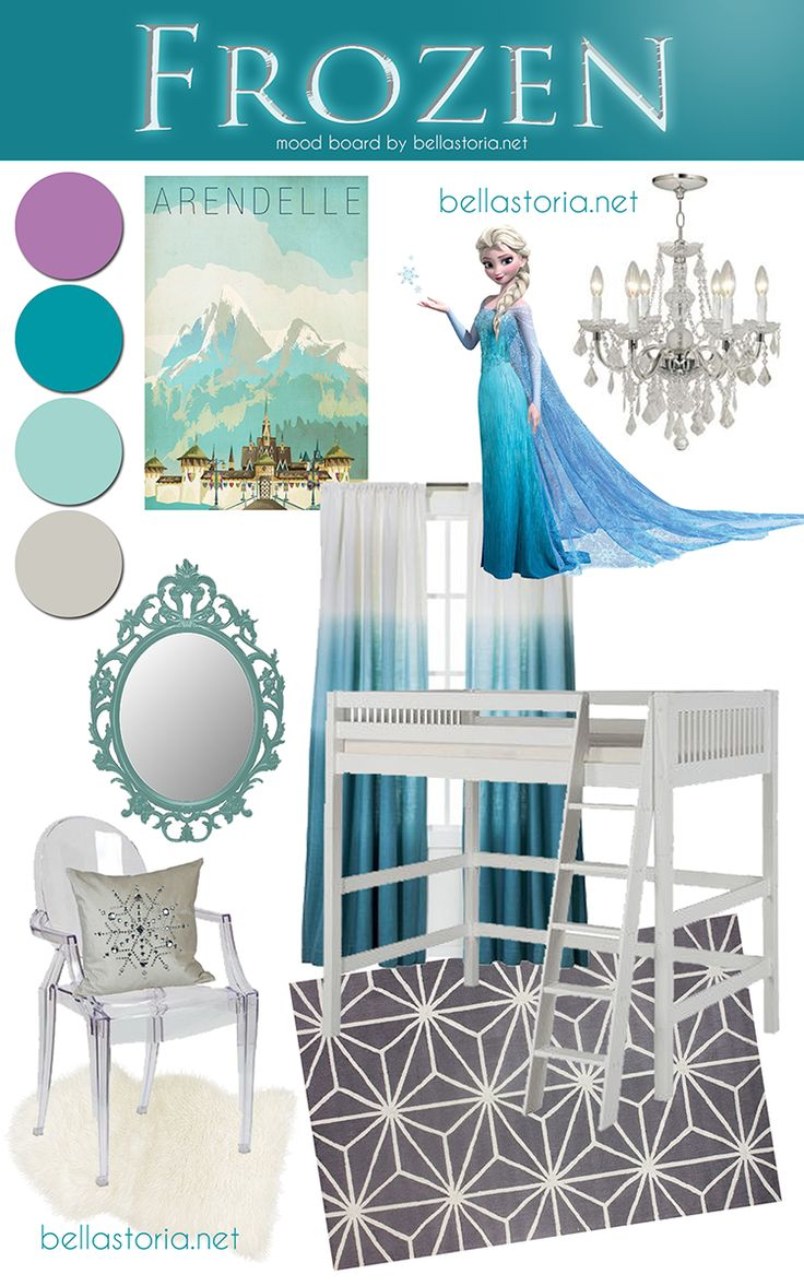 Disney Frozen Bedroom Ideas Disneys frozen inspired girls room mood 736x1177