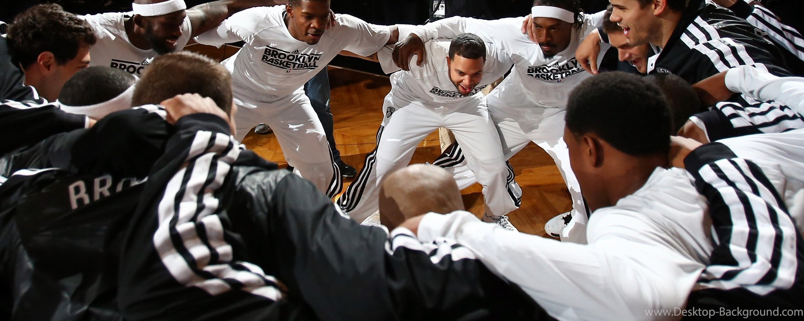 Wallpaper Deron Williams Joe Johnson Basketball 2560x1024