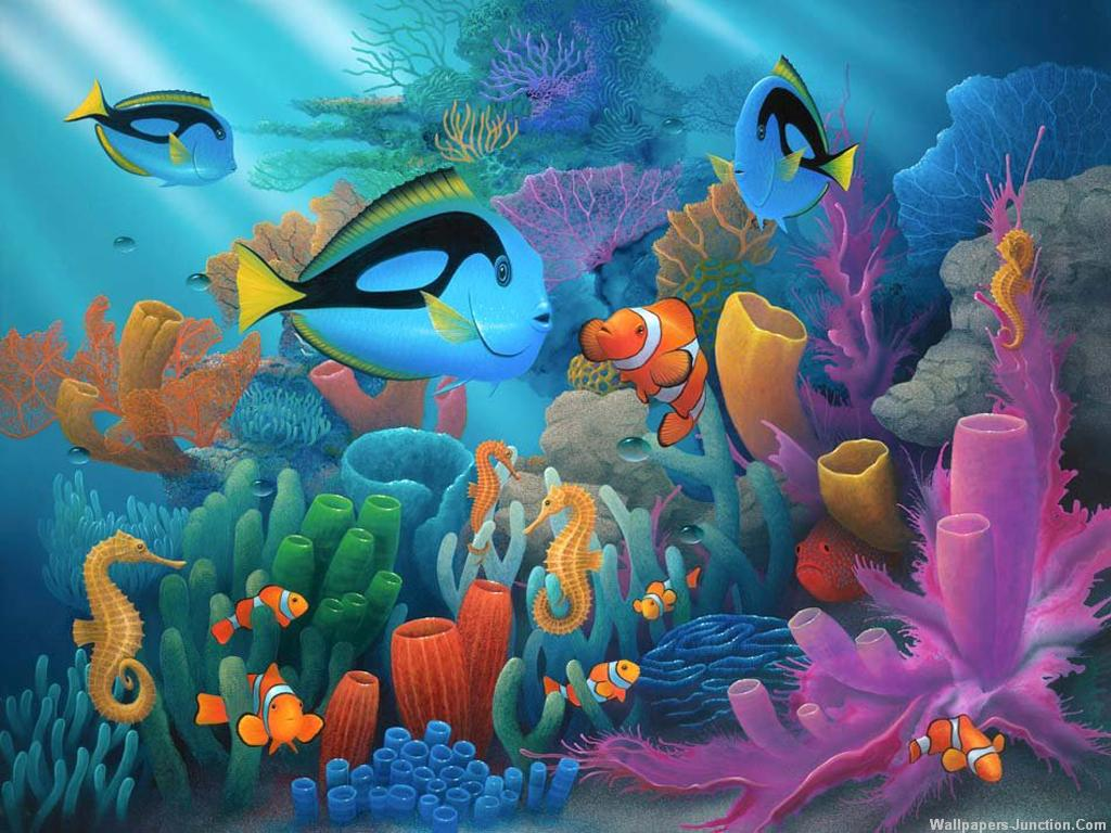 net3d aquarium wallpaper 3d aquarium desktop background pictures 1024x768