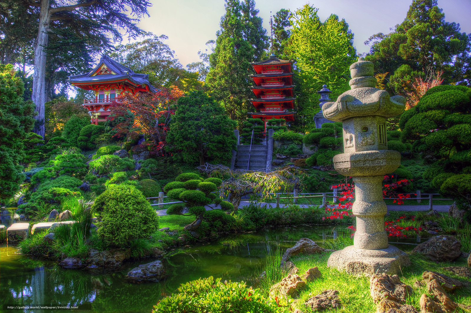 San Francisco California Japanese Tea Garden Japanese Garden 1600x1065