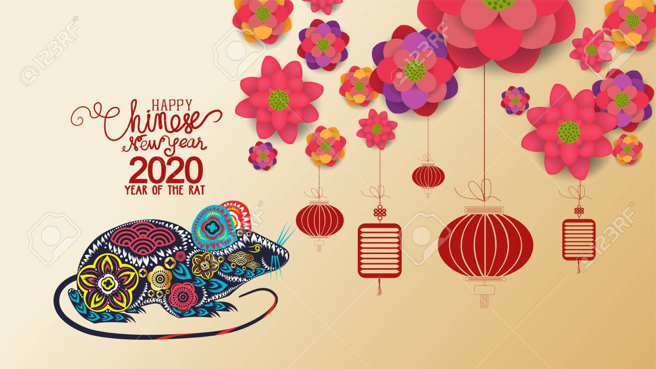 Chinese New Year 2020 With Blossom Wallpapers Year Of The Rat 1300x732