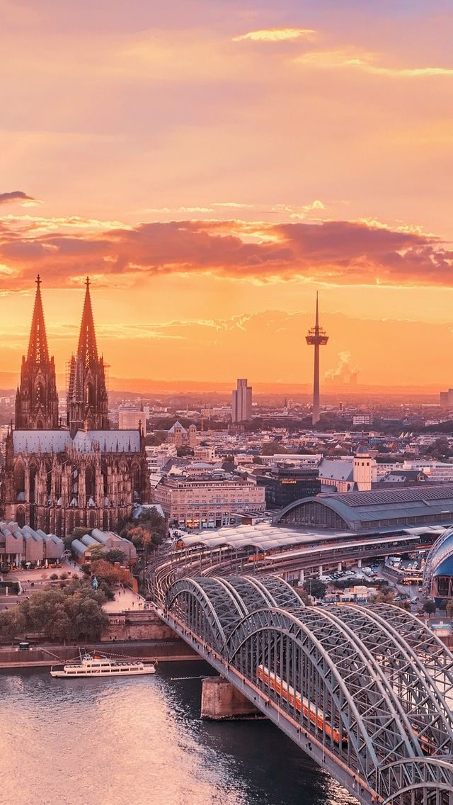 Cologne City Germany in 2019 Sunrise wallpaper Travel 640x1136