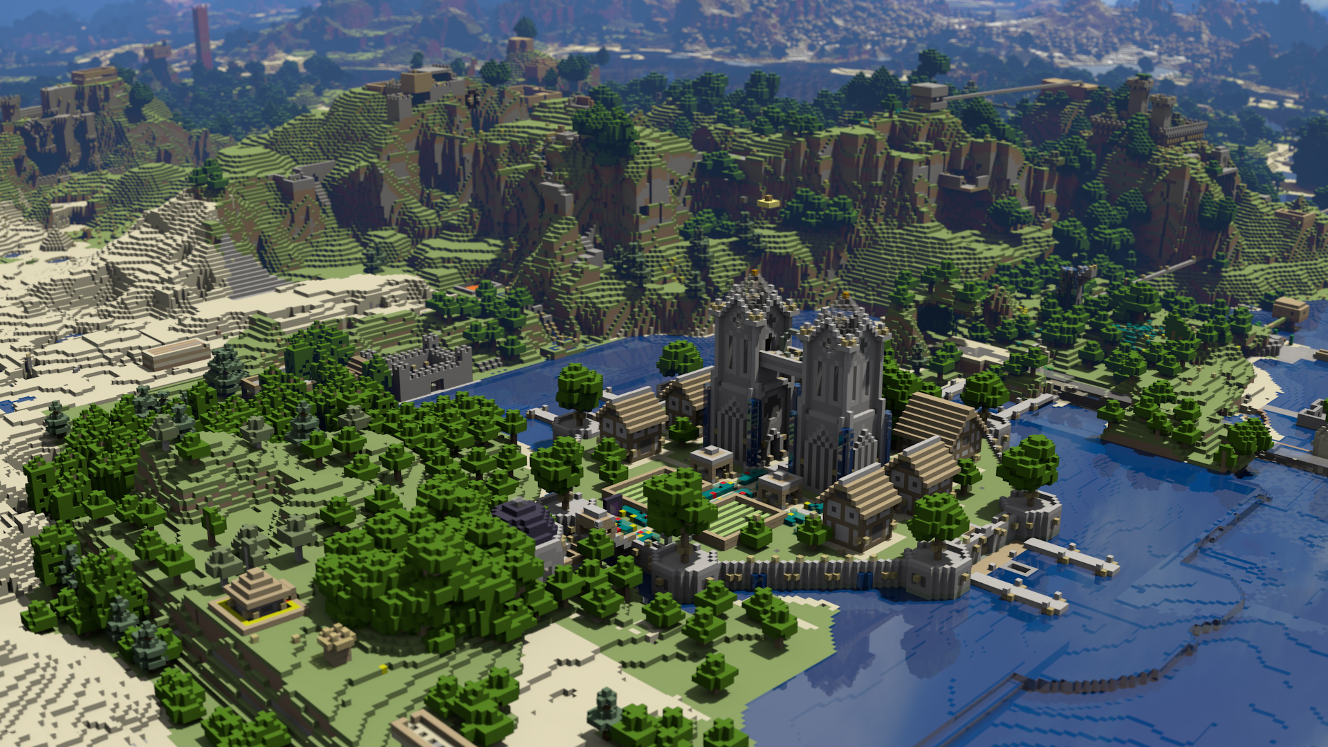 minecraft hd desktop backgrounds 1920x1080 land 1920x1080