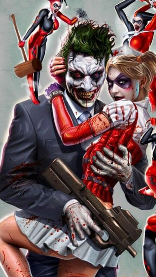 43 Harley Quinn And Joker Wallpaper On Wallpapersafari