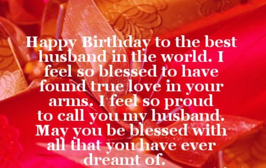 Happy Birthday Wishes For Husband 540x342