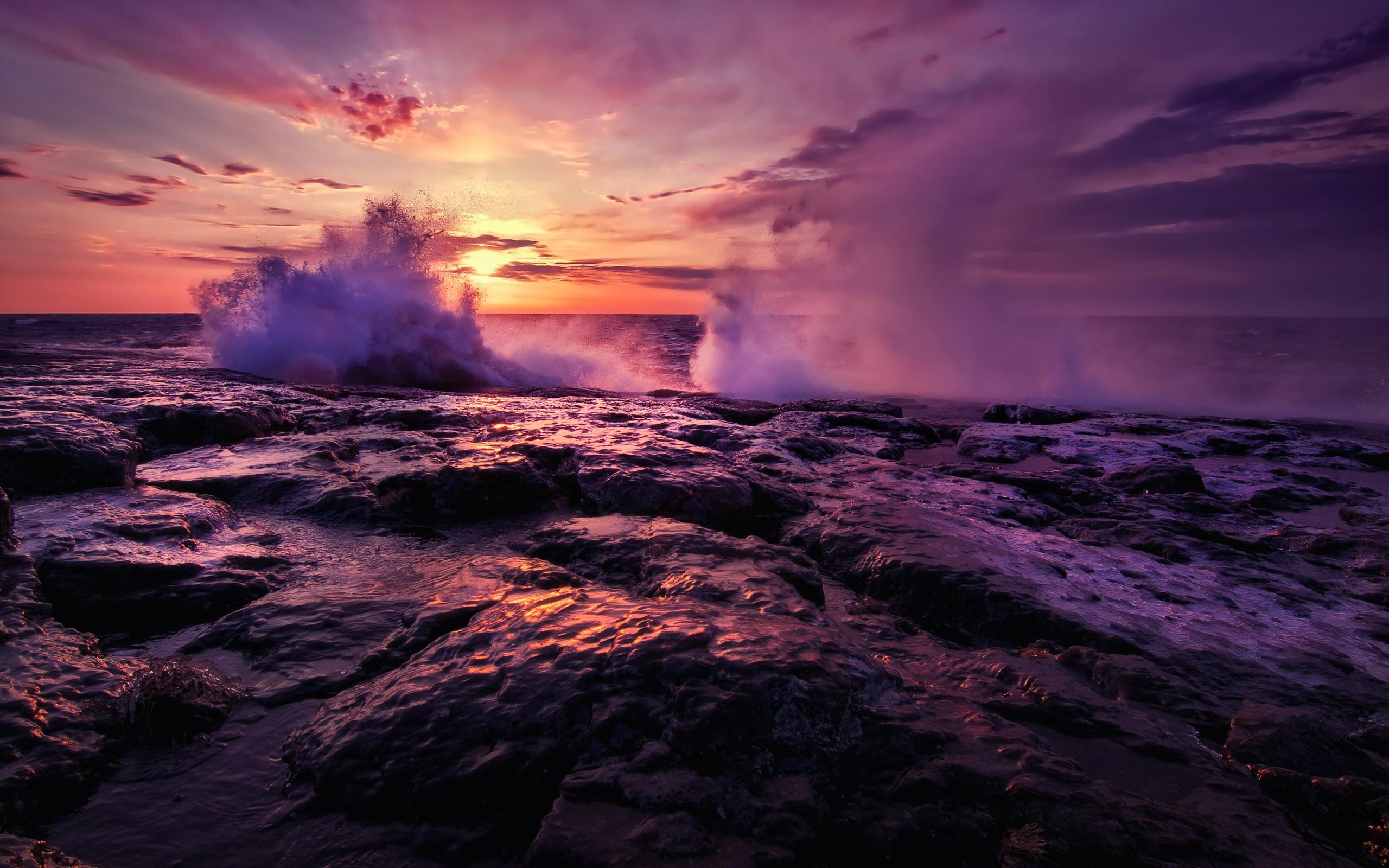 ocean waves sunset wallpapers ocean waves sunset wallpapers ocean 2560x1600