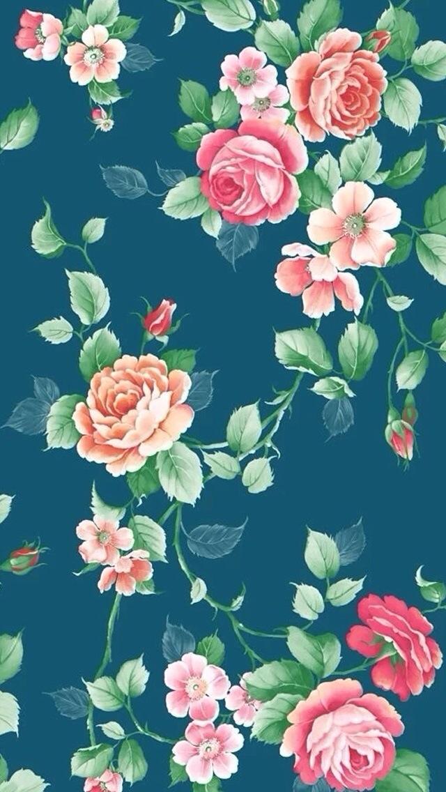 Floral iphone wallpaper wallpapersafari floral background iphone 5s pink floral iphone wallpaper floral iphone 640x1136 mightylinksfo
