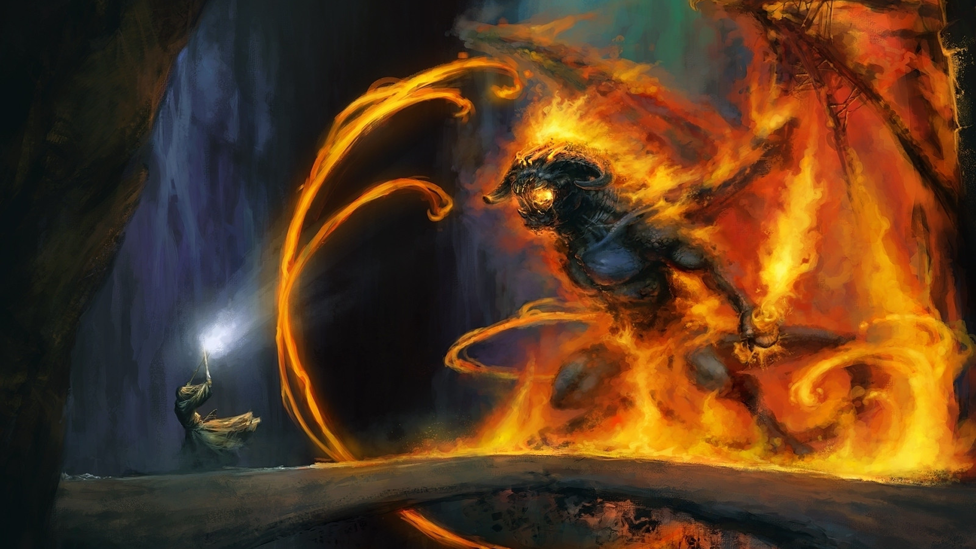 Lord Of The Rings Wallpaper Balrog 85542 1920x1080