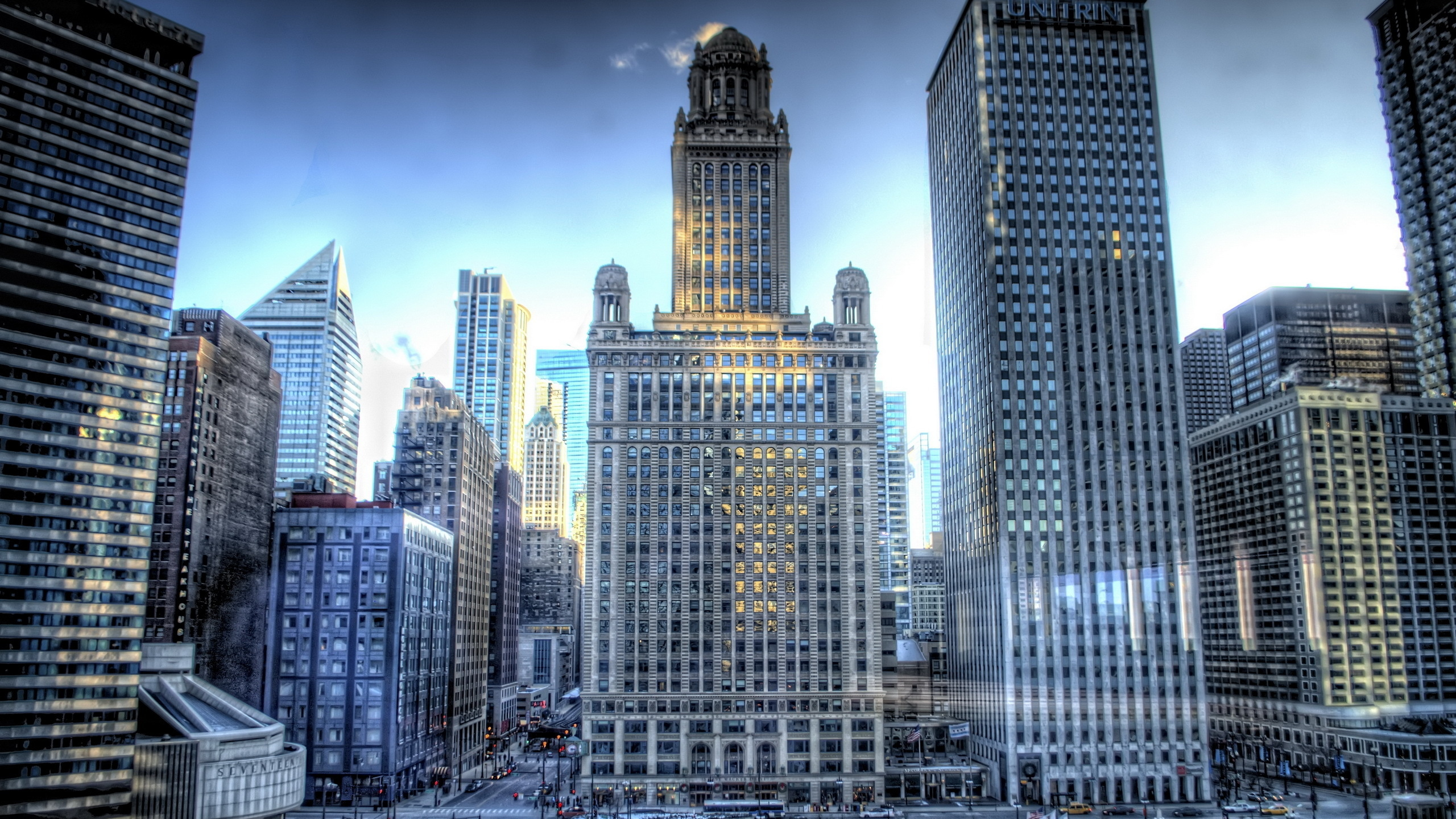 Usa Illinois Chicago Buildings Skysrapers High Resolution 2560x1440