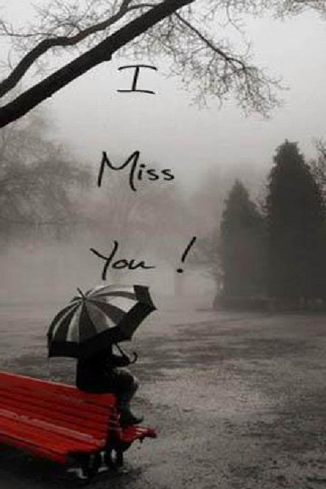 Download love wallpaper Miss U with size 640x960 pixels for 640x960
