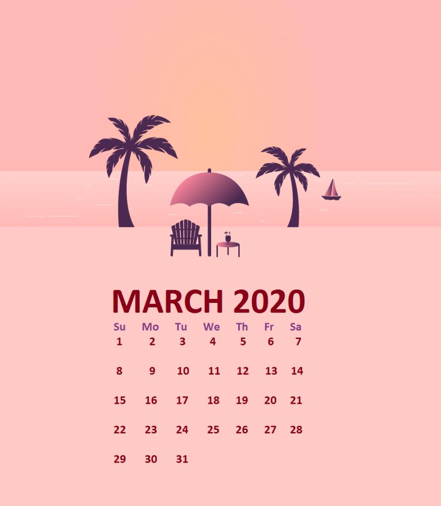 March 2020 Calendar Wallpaper For Desktop Laptop iPhone 892x1024