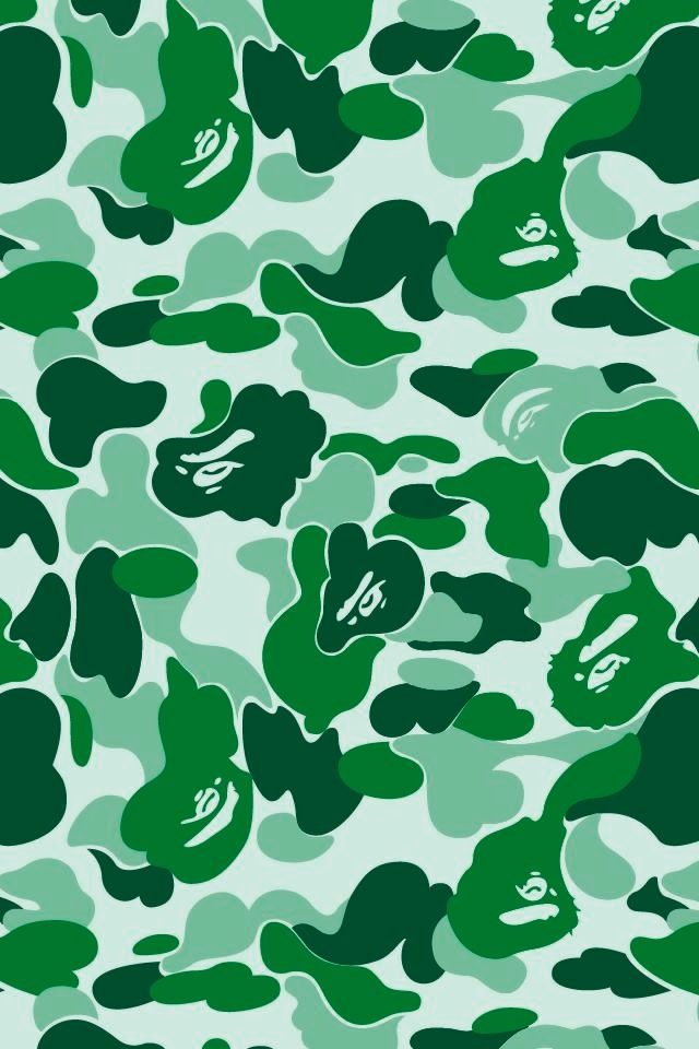 Green Bape Patterns Hintergrundbilder Fr IPhone 4 Pinter 640x960