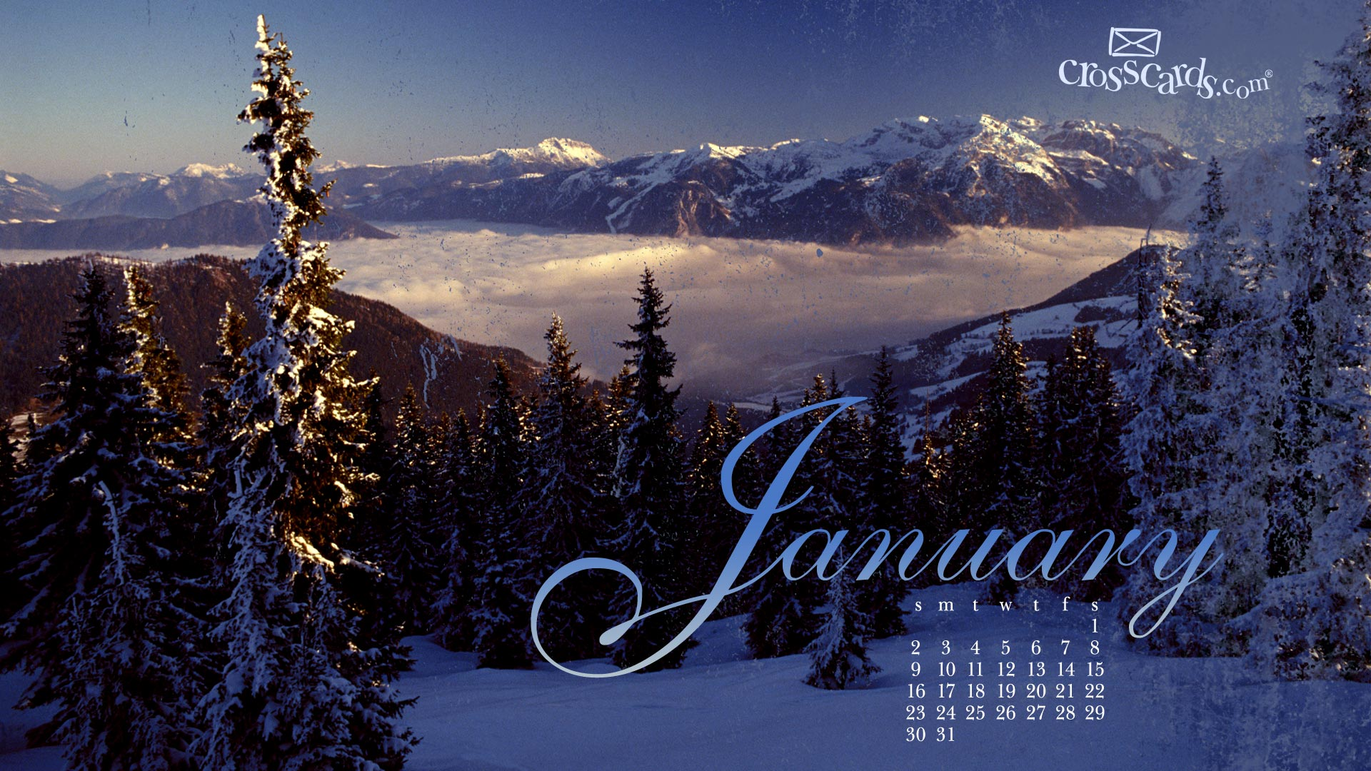 January Calendars Computer Monthly Christian Crosscards HD wallpapers 1920x1080