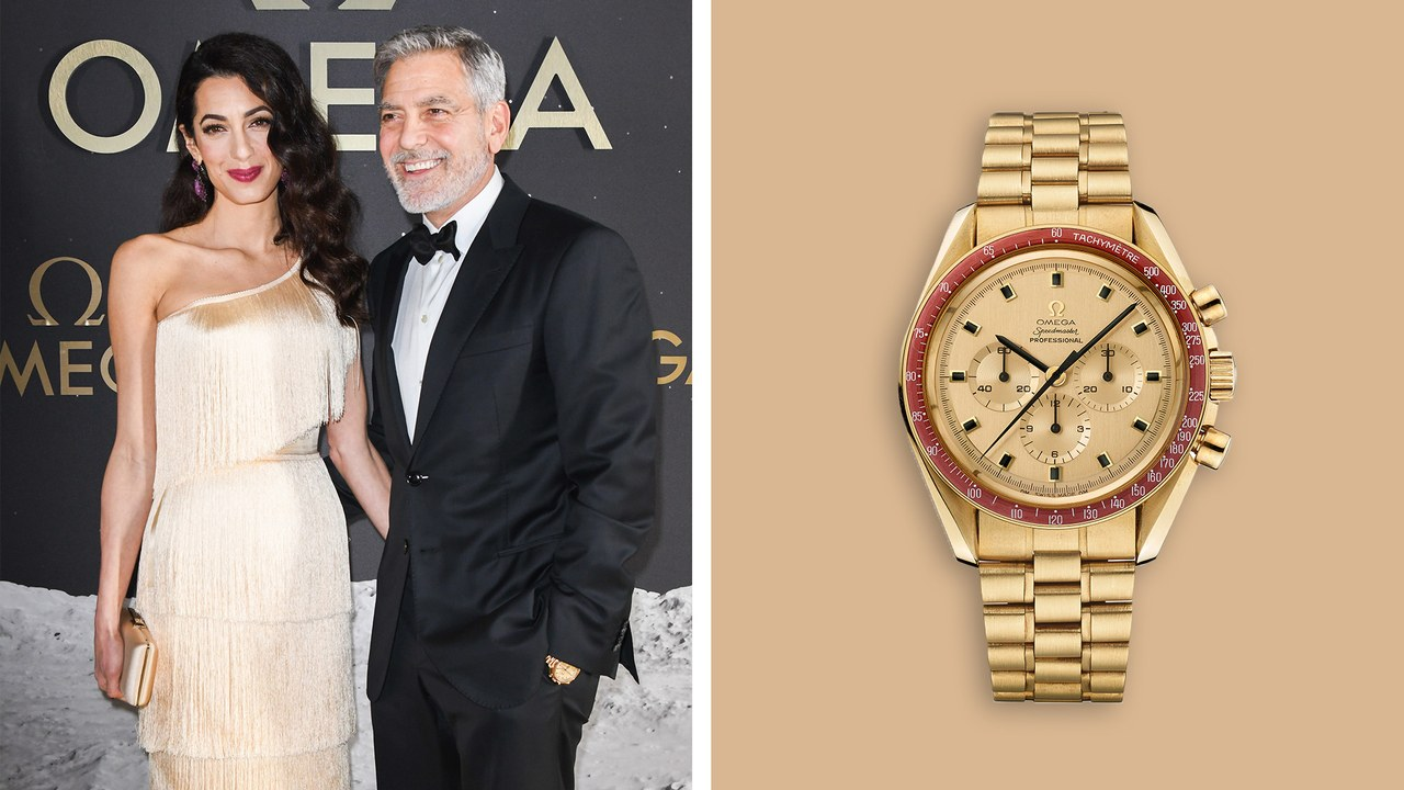 George Clooneys Omega Speedmaster Is Made Out of Moon Gold GQ 1280x720