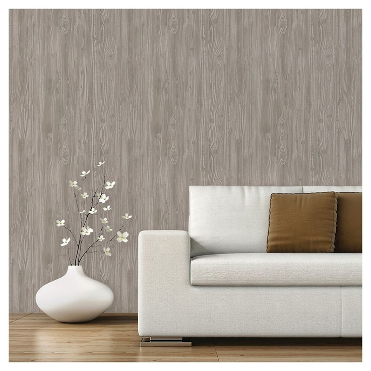 Devine Color Peel and Stick Wallpaper Textured Driftwood Pattern 736x736