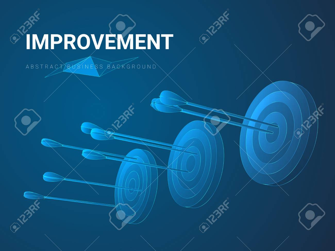 Abstract Modern Business Background Depicting Improvement In 1300x975