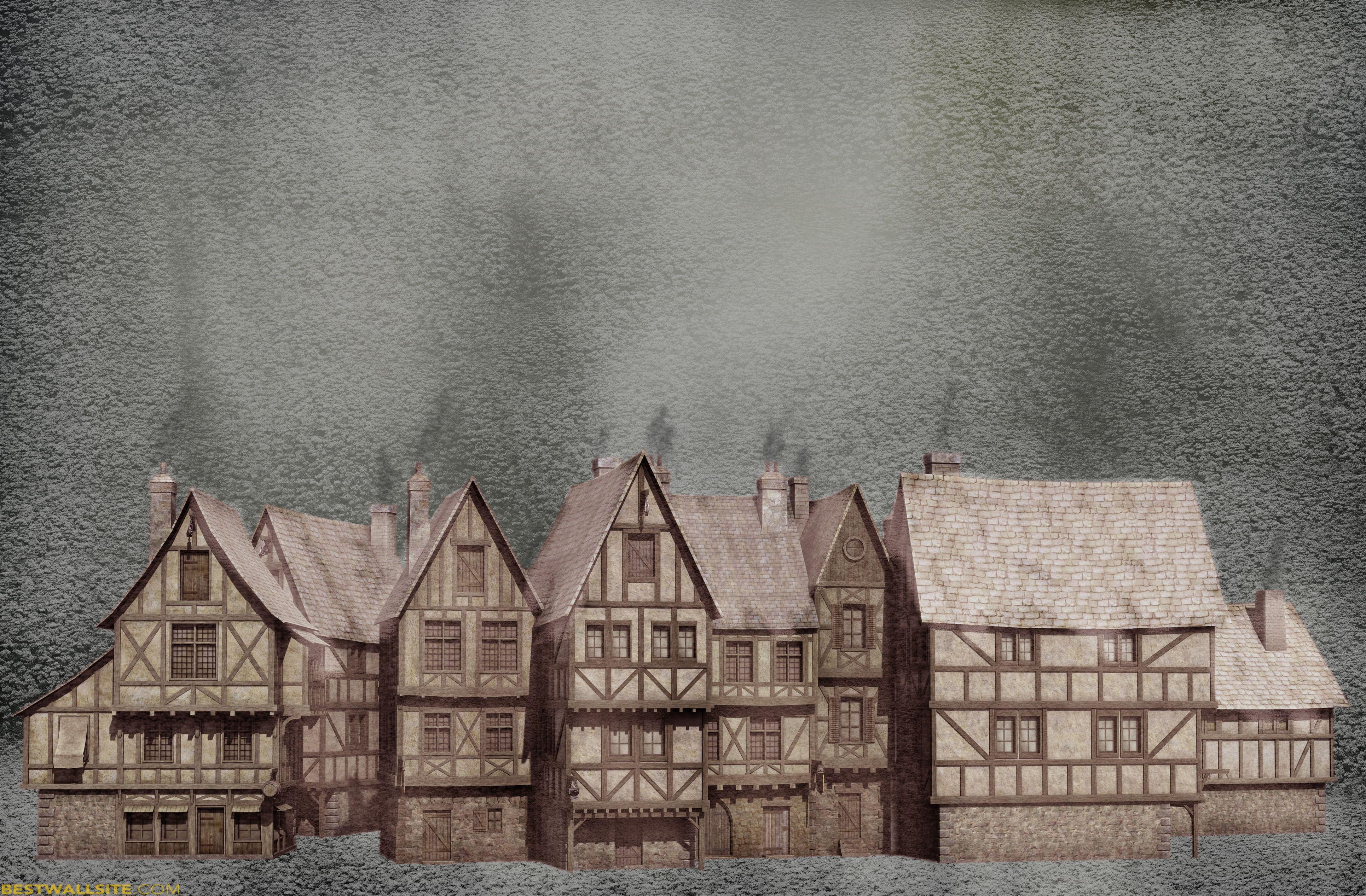Oliver Twist Snow In The Old Town BestWallSitecom 3862x2534