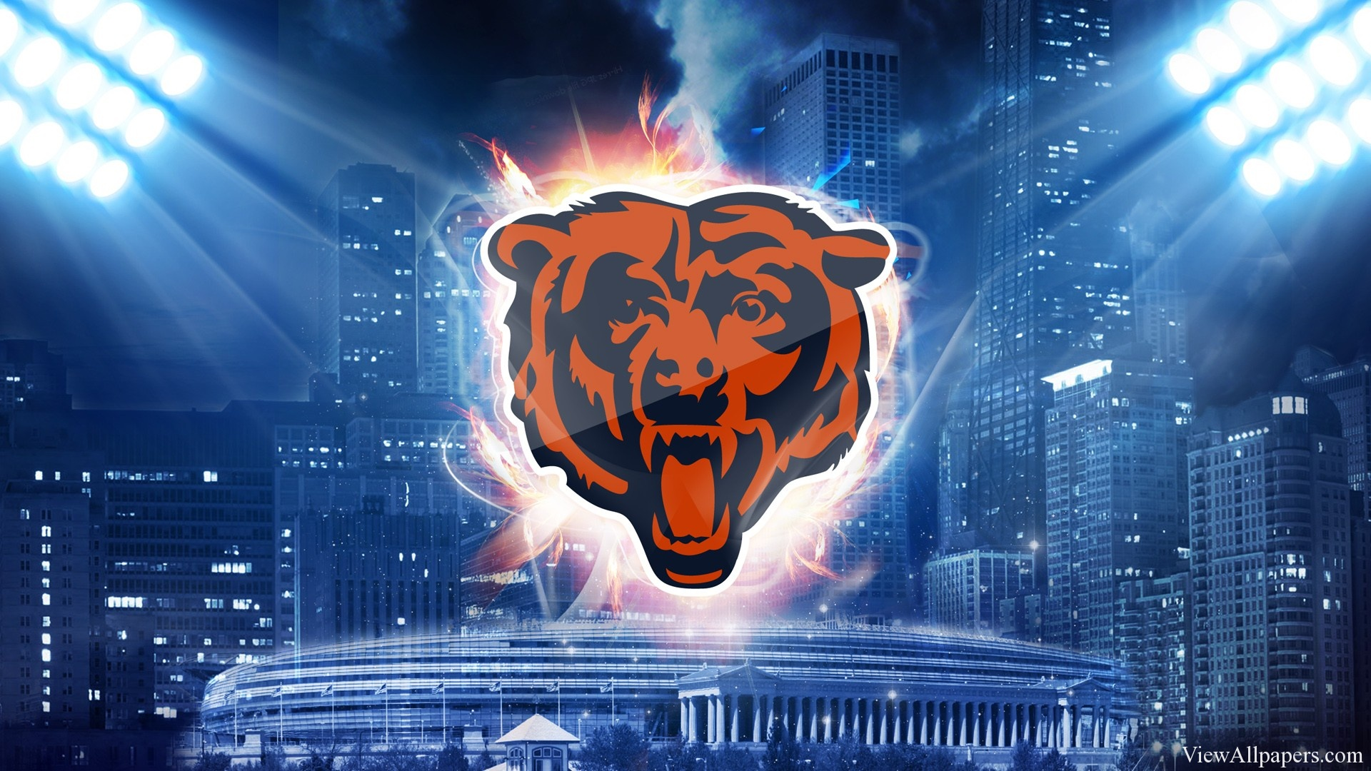 Chicago Bears Logo HD Wallpaper NFL HD Wallpapers 1920x1080