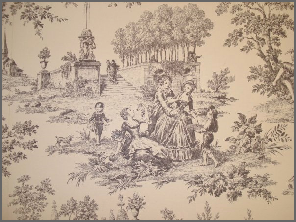 some classic examples of Toile de Jouy Wallpaper 604x453