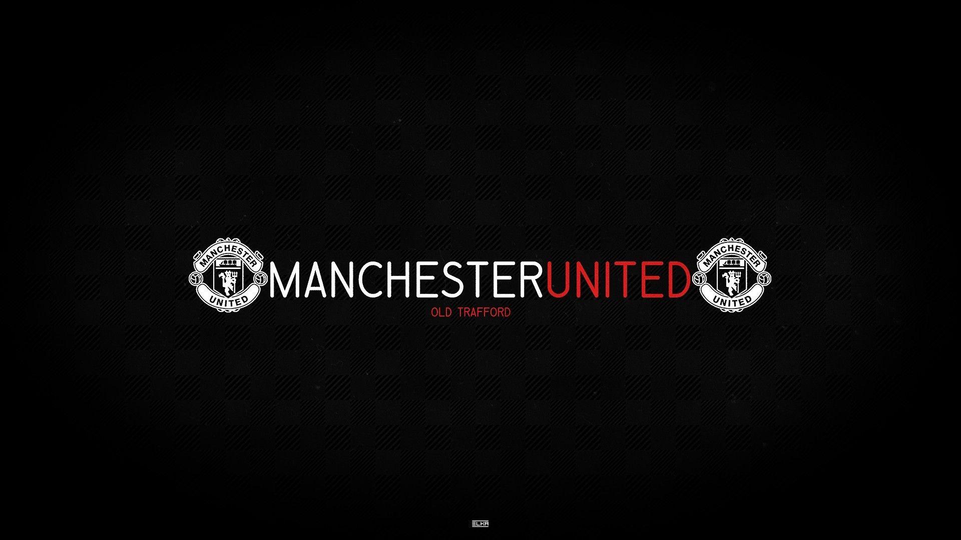 1920x1080 Black Background Manchester United Logo Full Top 1920x1080