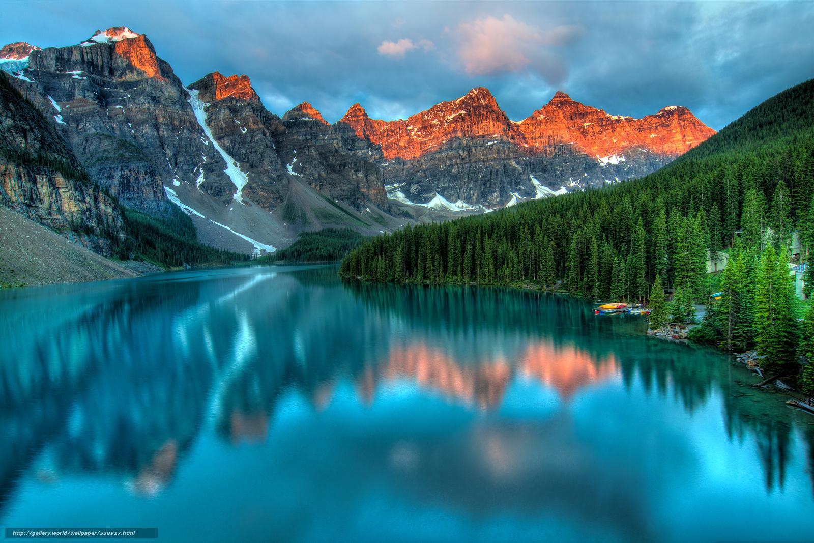 Download wallpaper Moraine Lake Banff National Park Alberta Canada 1600x1067