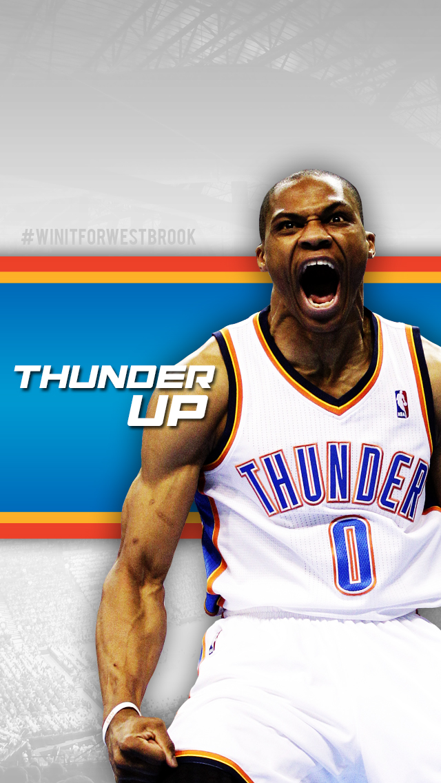 Russell Westbrook Iphone 5 Wallpaper Iphone5 thunder4 640x1136