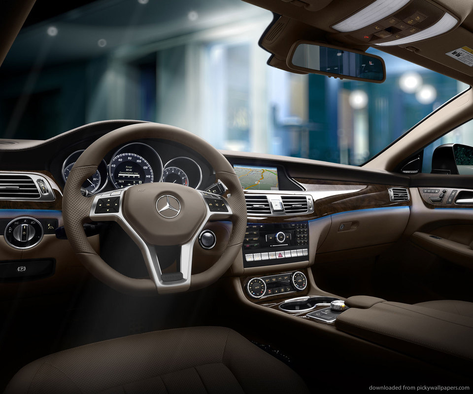 Benz CLS550 Coupe Car Dashboard Wallpaper Wallpaper For Samsung Epic 960x800