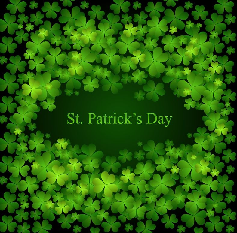 St Patricks Day Vector Background 788x776