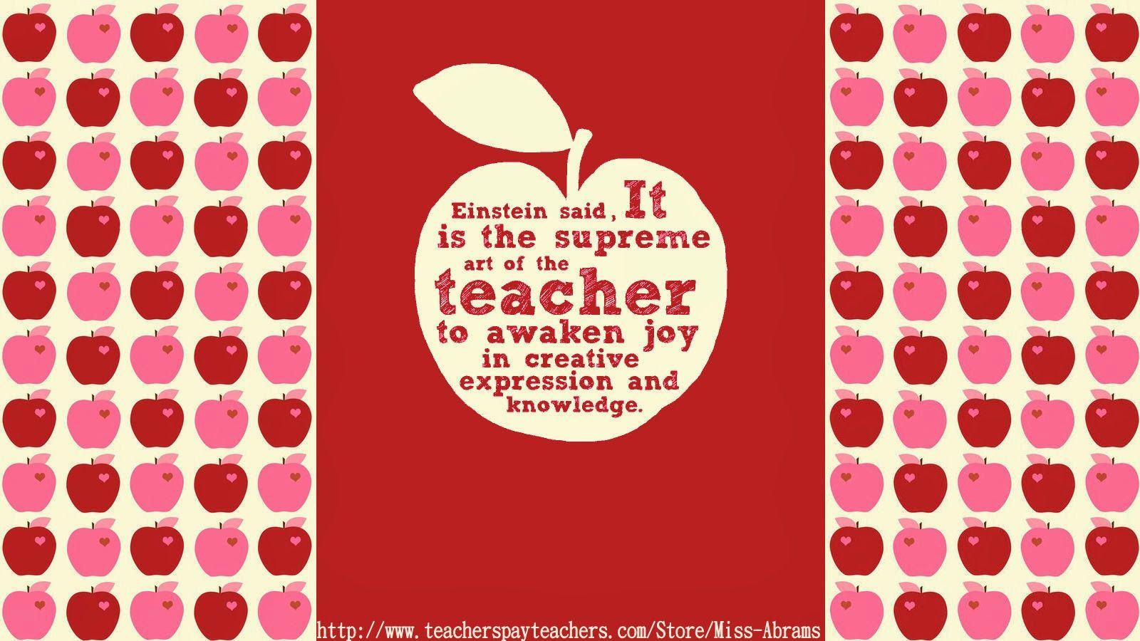 Teacher themed wallpapers to decorate your computer desktop 1600x900